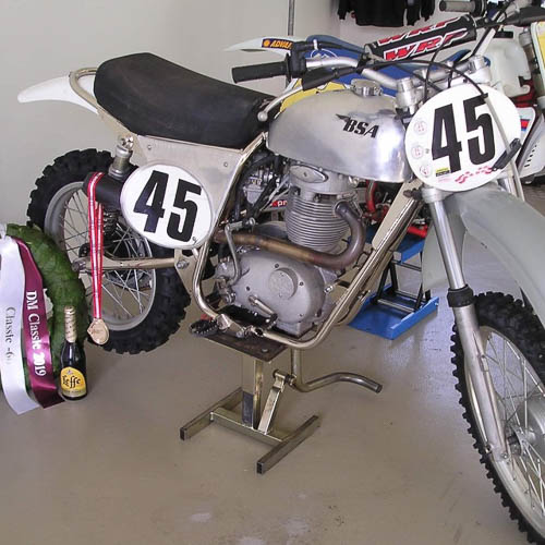 B.Z.S. Racing Parts - BSA frames with nickel surface treatment
